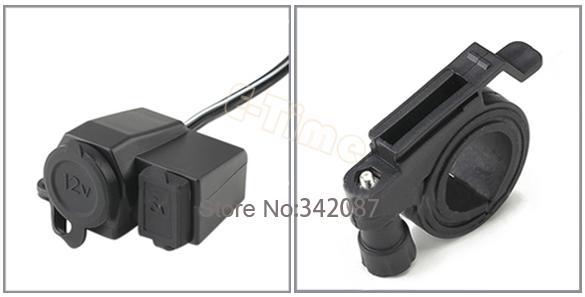 New Waterproof Motorcycle USB Cigarette Lighter Power Port Integration Outlet Socket 14746(China (Mainland))