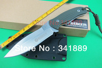 3 OPTION!Boker Fixed Blade Knife,AUS-8 Blade,58HRC,Stain Polish Finish,Camping Knife,Survival Knife,Multi Tool,High Quality,Hot