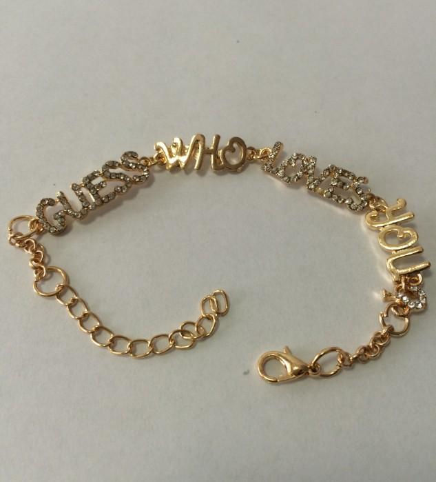 2014 New Arrival Fashion Couple Letters Love Bracelet For Women