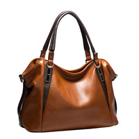 Hot Sale New 2014 Fashion Brand scrub genuine leather handbag messenger bag 9 Colors Gift free shipping hot sell Q9