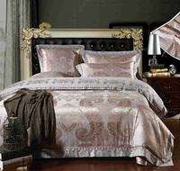 Free Shipping promotion wholesale 4pcs luxury cotton satin drill jacquard wedding bedding set home textile/duvet cover /bed set