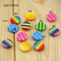 Free Shipping 200pcs Mixed Multicolour plastic multicolour resin button shirt button 13mm craft rhinestones RM511P