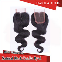 Human Hair Products Brazilian Virgin Hair Body Wave Closure Middle Part Lace Closure 1pcs/lot 8-18inch 4*4