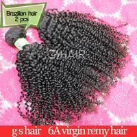 Brazilian Virgin hair weaves 2pcs human hair extensions 12-30 mix lengths dhl free shipping ms lula hair kinky curly