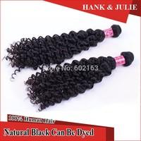 Brazilian Virgin Hair 2pcs/lot Remy Human Hair Extension Grade 6A 100% Unprocessed Virgin Hair Weft Deep Wave Curly