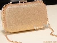 New fashion box clutch women chain bag female small shoulder messenger bag evening day clutch 2014 handbag bolsas femininas gold