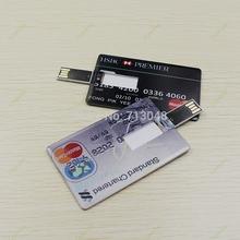 Sale  Genuine E-DREAM 1-64GB HSBC MasterCard credit card USB Flash Drive Card Pen drive ship by Gift(China (Mainland))