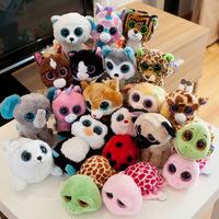 Ty big eyes series plush 15cm 5pcs/lot animal penguin polar bear plush toy doll  toys for baby Beanie Boos