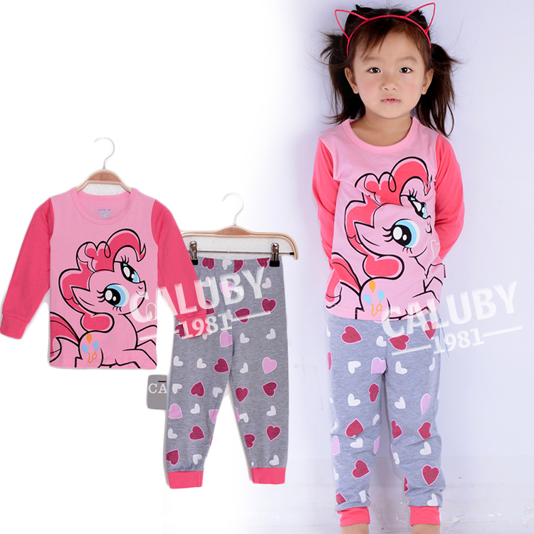 fashion 2014 frozen princess elsa girls pajama set new design cartoon baby kids clothing retail frozen children sleepwear(China (Mainland))