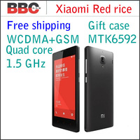 Original XIAOMI Red Rice Hongmi MTK6589T 4.7inch IPS HD Quad Core Mobile Phone 1GB RAM 4GB ROM GSM WCDMA Dual SIM Multi Language