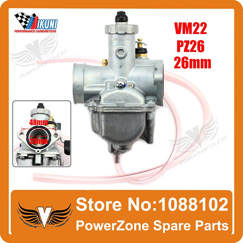 Mikuni Carburetor VM22 26mm 110cc 125cc Pit Dirt Bike ATV Quad PZ26 Performance Carburetor Part Free Shipping(China (Mainland))