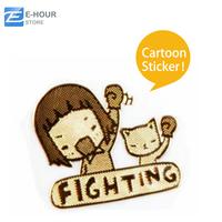 Cartoon Radiation Resistant Gilded Stickers Decoration Random Pattern Free Shipping