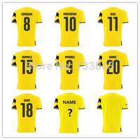 REUS Gundogan Immobile Ramos Hummels Soccer Jersey New 1314 TOP Thailand Quality Home Away Jerseys
