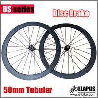 3K Glossy/matte 700c DISC road carbon disc brake wheel 50mm Tubular with Disc Braking hub