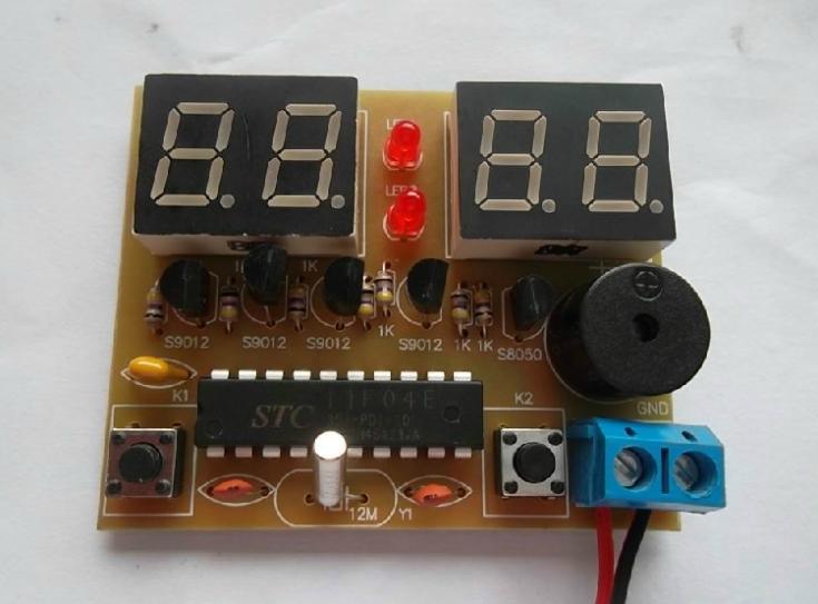 Microcontroller 8051 Digital Clock DIY Kit FREE SHIPPING(China (Mainland))