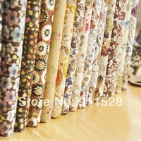 "fcz019 12 piece Assorted 100% Cotton Fat Quarters Fabric Bundle, Poplin Quilti Patchwork Cloth 'Milk Tea' - 45x50cm/ 17.7""x19.7"""