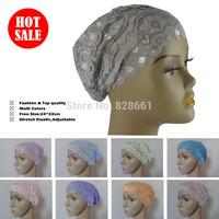 Muslim hijab,underscarf, lace Bonnet Cap, arab inner cap,(12 pcs/lot) +free shipping