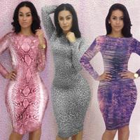 Women's Fashion 2014 Leopard Printed Bandage Dresses Bodycon Night Club dress Sexy Slim Dress Dropshipping 5135
