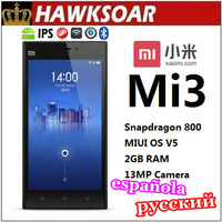 Xiaomi Mi3/M3  Multi Language Black white silver 16G MIUI OS 2.3GHz Quad Core Snapdragon 800 5-inch IPS Screen Android Phone