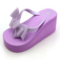 Free shipping women sandal 2014 outdoor slippers bowtie wedges sandals for women shoes beach flip flops platform women flats