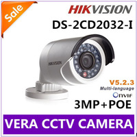 Hot IR Security Surveillance Hikvision DS-2CD2032-I IP Camera 1080P 3MP Outdoor Waterproof  POE Bullet Camera Free Shipping