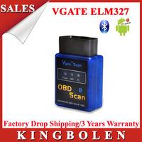 2015 High Quality MINI Bluetooth Vgate Scan OBD2 / OBDII ELM327 V2.1 Code Scanner Vgate ELM 327 Free Shipping