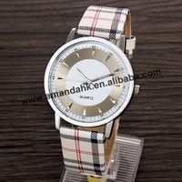 100pcs/lot New 2015 Hot Sale Quartz Wristwatches Retro Fashion Casual Joker Lattice Leather Strap Watches Women Dress Watch