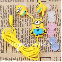 Popular Despicable Me The Minion Style Earphones 3.5mm In-ear Headphone for Various Mobile Phones  -Single Eye