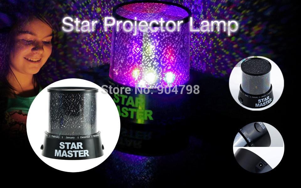 1 pcs Night Romatic Gift Starry Night Light Lamp Cosmos Star Sky Master Projector(China (Mainland))
