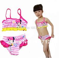 Top quality Girl 's  baby Swimsuit/Swimming Costume Bikini Swimwear Cartoon Chlidren Girls Swimsuits