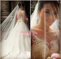 vestidos de noiva wedding dress 2014 bridal gown with sleeves sexy see through ball gown princess bridal dress  BO3770