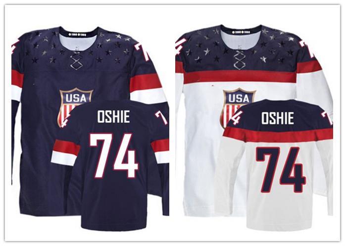 Kids Olympic T.J. Oshie USA Youth Jersey Stitched Sochi Hockey Jersey 2014 Team USA 74 TJ Oshie Youth Jersey(China (Mainland))