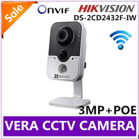 Hikvision DS-2CD2432F-IW 3MP w/POE Wireless IP Camera WIFI Built-in Microphone DWDR & 3D DNR & BLC Wi-Fi DS-2CD2432F-I (w)
