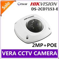 Vandalproof  IR Night Vision Security Surveillance Hikvision IP Camera POE 720P HD 2MP DS-2CD7153-E Camera CCTV Waterproof