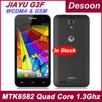 "In Stock! Original WCDMA Jiayu G2F Cell phones 1GB RAM 4GB ROM MTK6582 Quad Core 1.3GHz 4.3"" IPS Jiayu G2f Russian menu /Koccis"