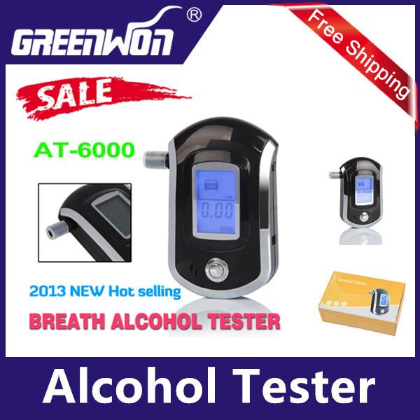 2014 NEW Hot selling Professional Police Digital Breath Alcohol Tester Breathalyzer AT818 Free shipping Dropshipping(China (Mainland))
