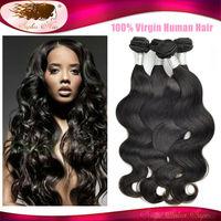 Sophia Hair 6A Unprocessed Peruvian Virgin Hair Body Wave Weave Pervian Virgin Remy Human Hair Wholesale Mix Length 4 Pcs Lot