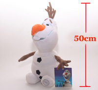 2014 New 50CM Big Size Frozen Olaf Movie Plush Dolls & Accessories 1:1 In-Stock Items Freeshipping