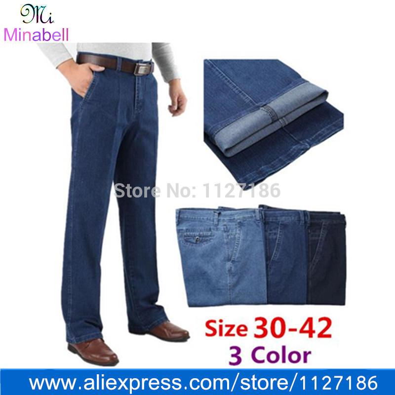 2014 nova chegada dos homens de moda roupas perna reta Jeans para homens cintura alta calças Jeans Designer calças compridas grande tamanho 42 40(China (Mainland))