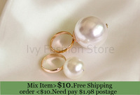 ZH0797 New Arrive 2014  Fashion statement pearl rings for women engagement ring