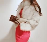 2014 Winter Warm New Korean Fashion Luxury Quality Overcoats Women's faux Fur Coats Fur jacket Outerwear coats WC127