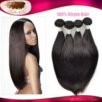 6A Mocha Hair Products Peruvian Virgin Hair Straight Remy Human Hair Weave 3pcs lot Double Drawn Hair Weft No Tangle No Shedding