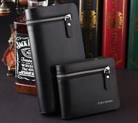 New arrival designer's men's wallet zipper leather wallet, business brand purse men's clutch wallet Free shipping