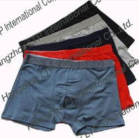 HOT SALE Wholesale New Men's Underwear 5 Colors Men's Boxer 93% Cotton  Boxer In The Waist Solid Color Boxer 5 Pc/Lot