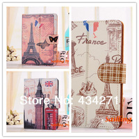 Fashion London Style World's Famous Sight Views PU Leather Smart Case Cover For 8 Inch Tablet PC for Kids& Students& Pupils