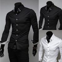 Men Military Shirt Polo Mens Dress Casual Shirts Man Mens Camisa Masculina Male Social Cotton White Short Casual-Shirt Clothes