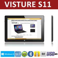 "Visture S11 10.1"" Quad Core Intel Baytrail IPS 1280 x 800p Tablet Windows 8.1 2G DDR3 32G Dual Camera 8 hours battery"
