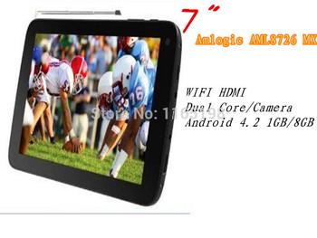 Горячая! новый 7 дюймов сверхзвуковой SC-77TV Amlogic AML8726 MX двухъядерный / camera1GB / 8 ГБ WIFI HDMI Android 4.2 многоязычная планшет пк
