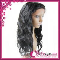 5A body wave lce front human hair wigs glueless brazilian wigs 130% density medium size cap 1b natural black Forawme hair