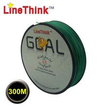 LineThink GOAL 300M Grey 100% PE Spectra Dyneema Braid line X4Strands Braided Fishing Line Free Shipping